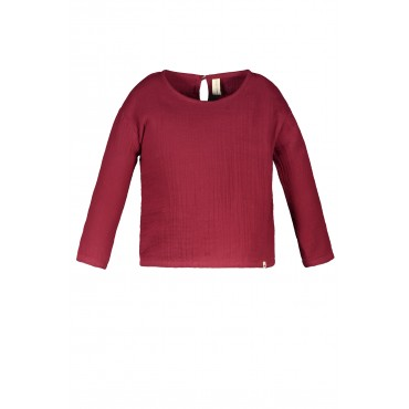 Earth red cotton blouse - The New Chapter